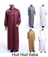 Men Yemeni Omani Qatari Dishdasha Jubbah Arab Kaftan Thobe Islamic Clothing