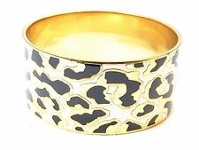Kate Spade Changing Spots Bangle Bracelet! NWT So Rare Inlaid Gold Animal Print