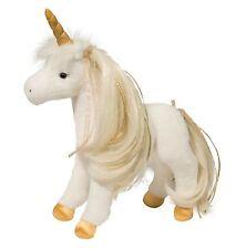 """Douglas GOLDEN PRINCESS UNICORN 12"""" Plush Stuffed Pony Brushable Mane & Tail NEW"""