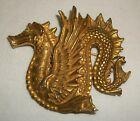 Large Vintage Dragon Gold Tone Pin Brooch MMA Metropolitan Museum of Art