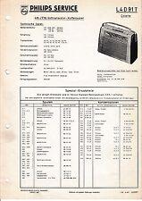 Manuel d'instructions service pour Philips L4 D91 T, Colette