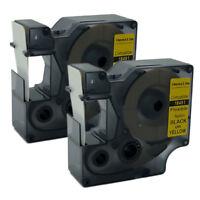Compatible DYMO Rhino Flexible Nylon Industrial Label Tape Black on Yellow 19mm