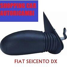 SPECCHIO SPECCHIETTO RETROVISORE DESTRO DX C/LEVA FIAT SEICENTO 600 1998>82970