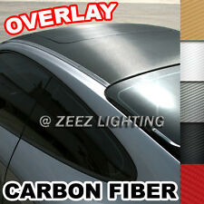 Carbon Fiber Vinyl Wrapping Cover Film Moon Roof Hood Trunk Bumper Overlay Tint