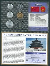 China Kursmünzensatz aus 1987-2006, gemischt, UNC.-