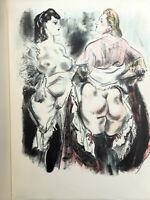 CURIOSA Les Amies Femmes VERLAINE illustré BERTHOMME SAINT ANDRE 1942 SUITE   36