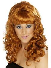 60 s beauté boucle Perruque auburn NEUF - Carnaval perruque cheveux