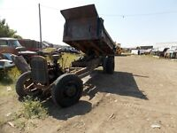 46 Chevy dump box and rolling frame . No motor  radiator or rad  surround
