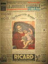 NOËL VIERGE A LA GRAPPE CANTINIERES VIVANDIERES JOURNAL LA JOURNéE VINICOLE 1951