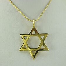 Star of David 14K solid gold Necklace, Star of David pendant,Star of David gold