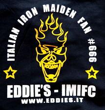 IRON MAIDEN official ITALIAN Fan Club EDDIE'S  t-shirt  Heavy Metal ufficiale M