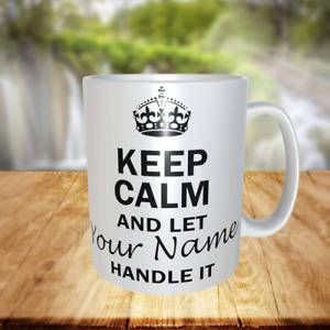 MU75 KEEP CALM any name PERSONALISED GIFT MUG CUP birthday christmas novelty