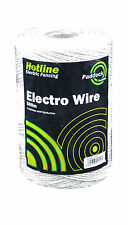 Electric Fencing 6 Strand Polywire - 500m (white)