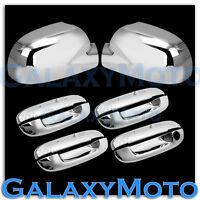 03-08 Isuzu Ascender Chrome Mirror+4 Door Handle W/O PSG Keyhole Cover COMBO Kit