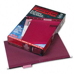 Pendaflex Reinforced Hanging Folders, Legal, Burgundy, 25/Box (PFX415315BUR)