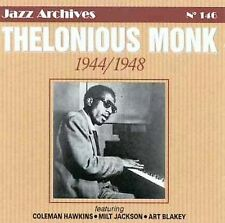 ARTWORK MISSING! Thelonious Monk CD 1944-1948