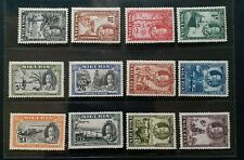 NIGERIA 1936 KG V 1/2d to £1 SG 34 - 45 Sc 38 - 49 pictorial set 12 MNH