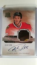 2011-12 Upper Deck The Cup Andrew Shaw RC 2 Color Patch Auto 50/249