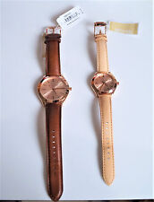 Michael Kors Slim Runway Rose Gold-tone And Leather Watch Gift Set MK3425 NEW