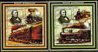 Trains Robert Stephenson Mozambique #1645 - 1626 Set of 2 souv sheets $19.00 Val