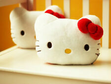 One Pair Hello Kitty Car Headrest Pillow Head Cushion Plush open eyes RED 2pcs