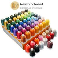 Polyester Sewing & Embroidery Machine Thread Kit - 64 Spools -1000M Each -40WT