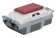 Rojo 20 una Luz Interruptor Rojo,2 Vías de Clip Semi Brillo,2 Tomas Parrilla Mk