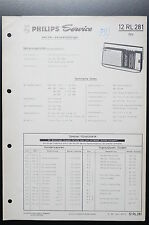 PHILIPS RADIO 12RL281 REX Service-Anleitung/Manual/Schaltplan o35