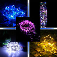 String Light 30/100 LED Battery Operated Home Garden Xmas Lights Party Wedding