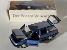 VW Passat 35i B3 VARIANT blau blu bleu blue metallic Schabak 1:43 - OLD DEALER!