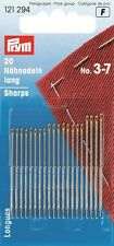 Sewing Needles 20 sharps No.3-7  assorted with gold eye - Prym Product 121294