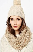 New Look Blush Sequin Sparkly Knitted Snood Warm Scarf Gift Idea Christmas Xmas