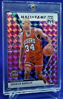 CHARLES BARKLEY PRIZM MOSAIC PINK PARALLEL RARE SP