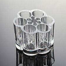 Clear Acrylic Cosmetic Organizer, Round Lipstick Display - Makeup Brushes Liners