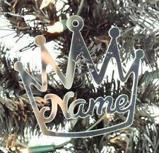 Personalised Mirrored Acrylic Crown Bauble Christmas Decoration Gift 100mm Size