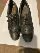 """Vtg 1930's Womens """"Red Cross Shoe Company"""" Leather Oxford 2"""" heel sz 9 - Tosspi"""