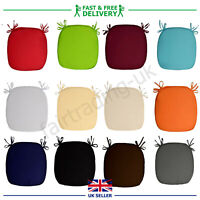 New Plain Seat Pads SoftBistro Pads Kitchen Dining Chair Tie On