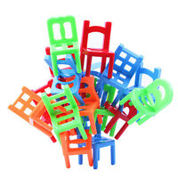 VS2# 18X Plastic Balance Toy Stacking Chairs for Kids Desk Play Game Toys
