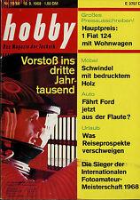 hobby 19/68 1968 Ford 20M RS 17M Escort BRM Honda F1 Lotus Nordmende HiFi 8001/T