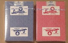 Landmark Casino Las Vegas -Set Of Two (2) Red&Blue Sealed Poker Decks By Paulson
