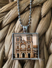 Pendant Silver Chain Necklace New Notre Dame Cathedral Paris France Glass