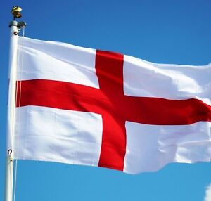 England Flag 5FT X 3FT St George Cross Flags English Eyelets