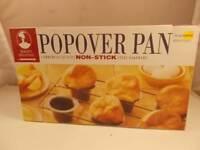 Bakers Advantage Roscho Popover Pan Black Non Stick Steel 6 Cups New In Box