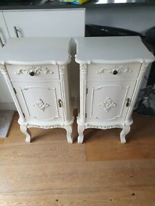 Rococo style bedside cabinets X 2