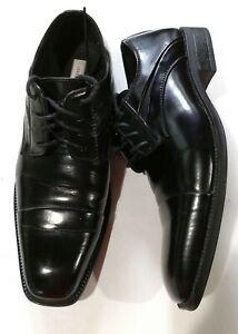 Joseph Abboud mens black leather-lined dress shoes 61-29734 - size 8.5M