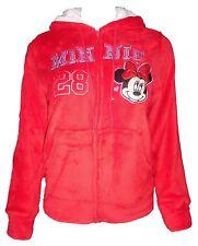 Disney Women's Minnie Mouse Light #28 Red Fleece Zip up Hoodie Jacket Medium