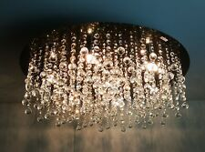 Am-Light Outstanding Circular ceiling light with Crystal Droplets for your home