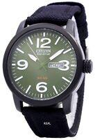 Citizen Eco Drive Military Black Canvas Strap BM8475-00X Men's Watch