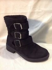 Top Shop Black Ankle Leather Boots Size 3