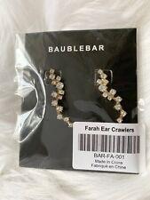 New Bauble Bar Farah Ear Crawlers Earrings Gold Rhinestone FabFitFun